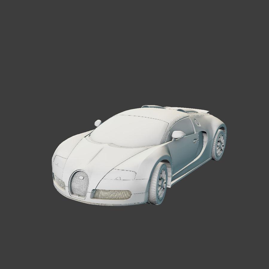 Bugatti Veyron royalty-free 3d model - Preview no. 6