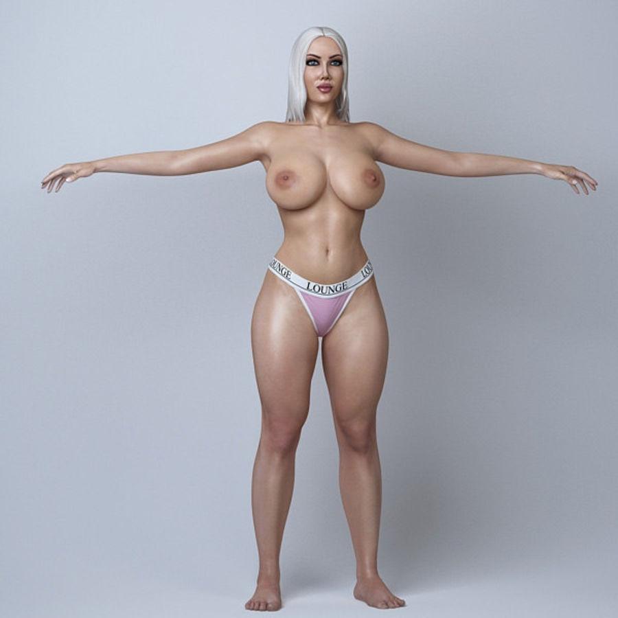 Piękna kobieta 11 royalty-free 3d model - Preview no. 6