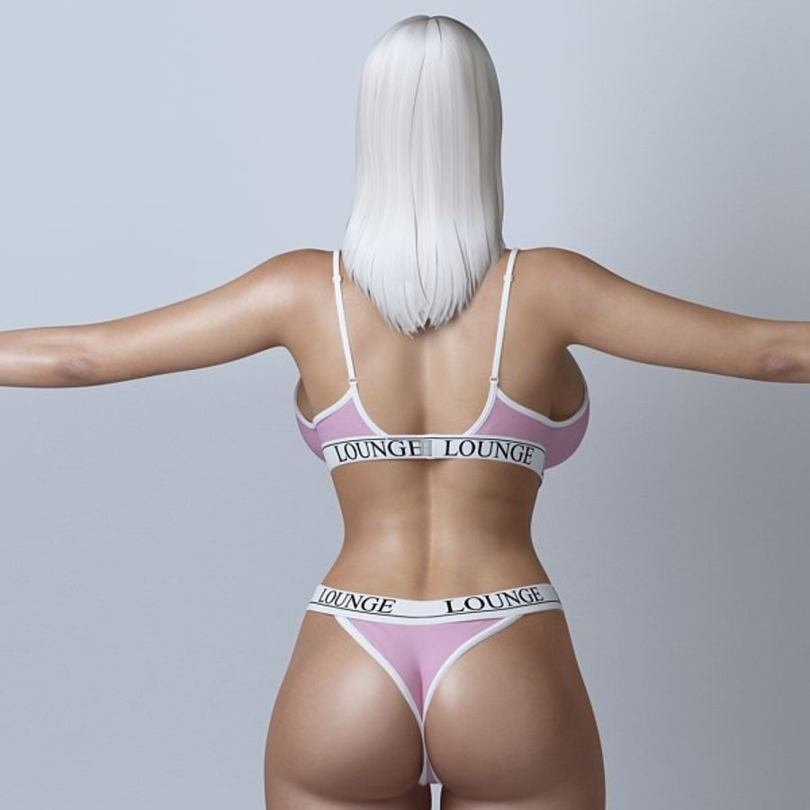 Piękna kobieta 11 royalty-free 3d model - Preview no. 3