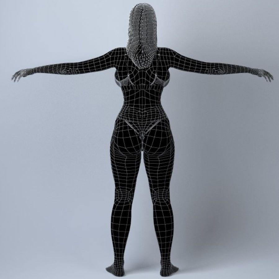Piękna kobieta 11 royalty-free 3d model - Preview no. 13