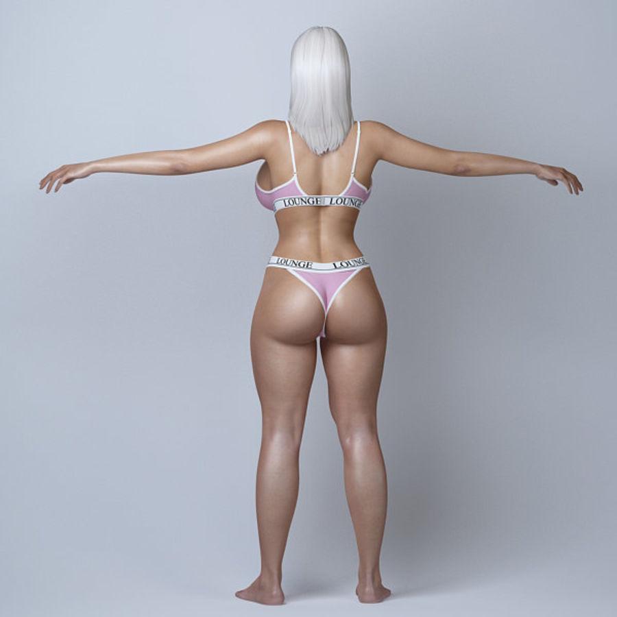 Piękna kobieta 11 royalty-free 3d model - Preview no. 5