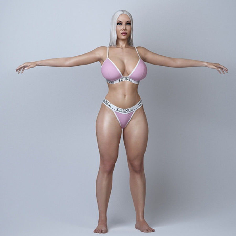 Красота женщины 11 royalty-free 3d model - Preview no. 4