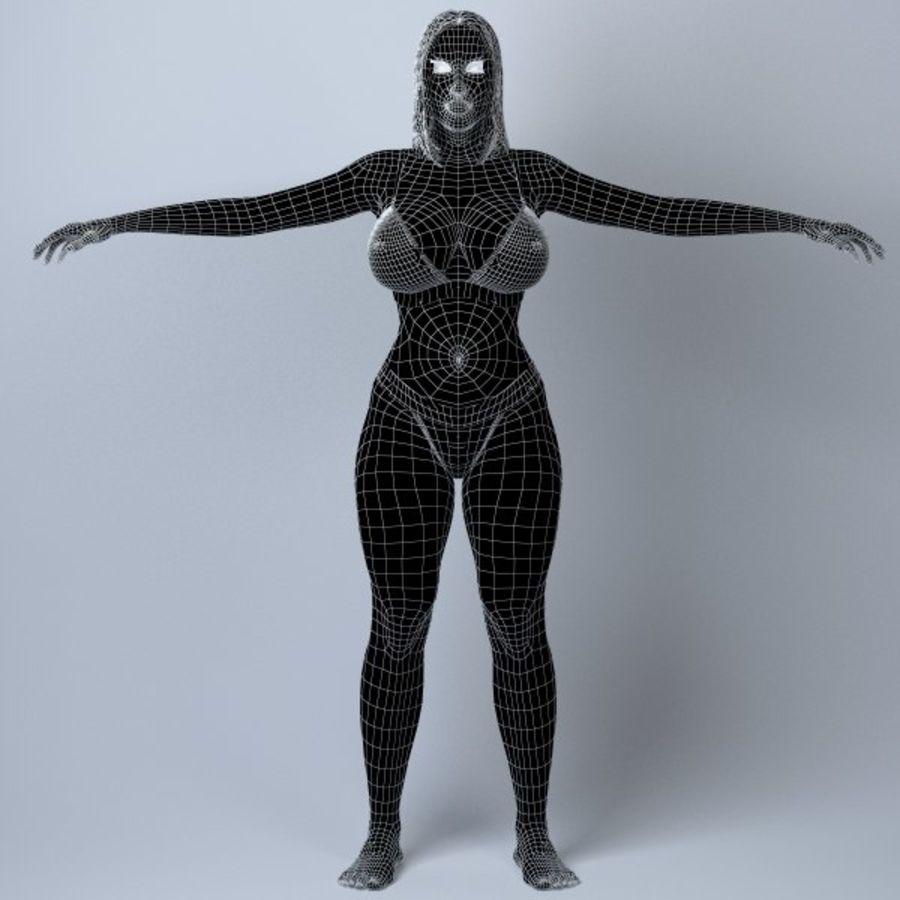 Piękna kobieta 11 royalty-free 3d model - Preview no. 12