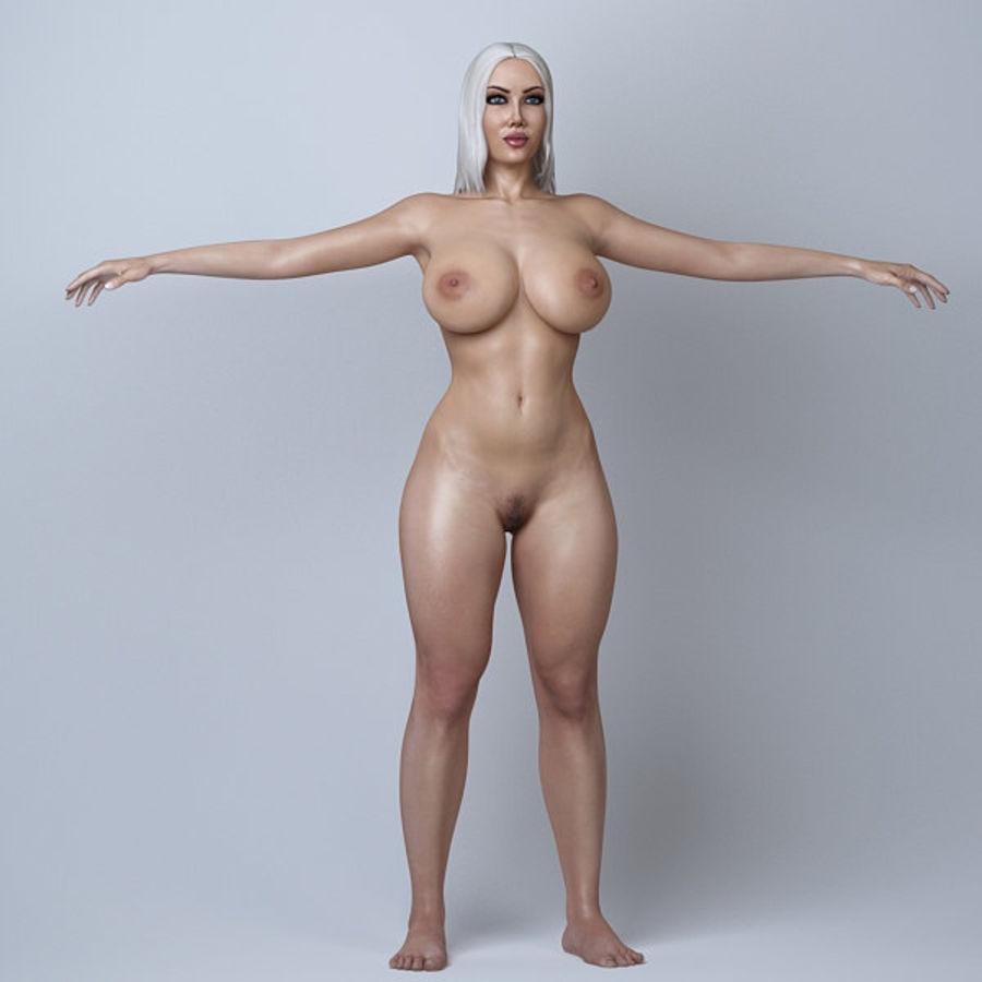 Piękna kobieta 11 royalty-free 3d model - Preview no. 8