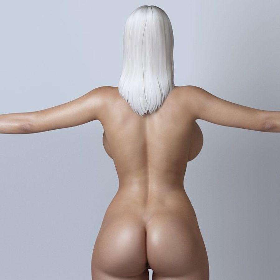 Piękna kobieta 11 royalty-free 3d model - Preview no. 11
