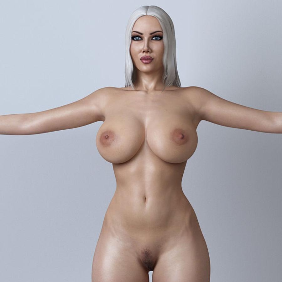 Piękna kobieta 11 royalty-free 3d model - Preview no. 10