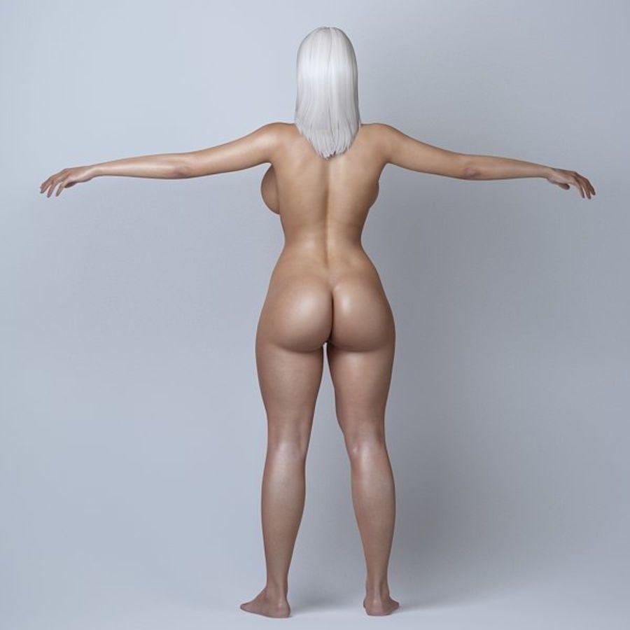 Piękna kobieta 11 royalty-free 3d model - Preview no. 9