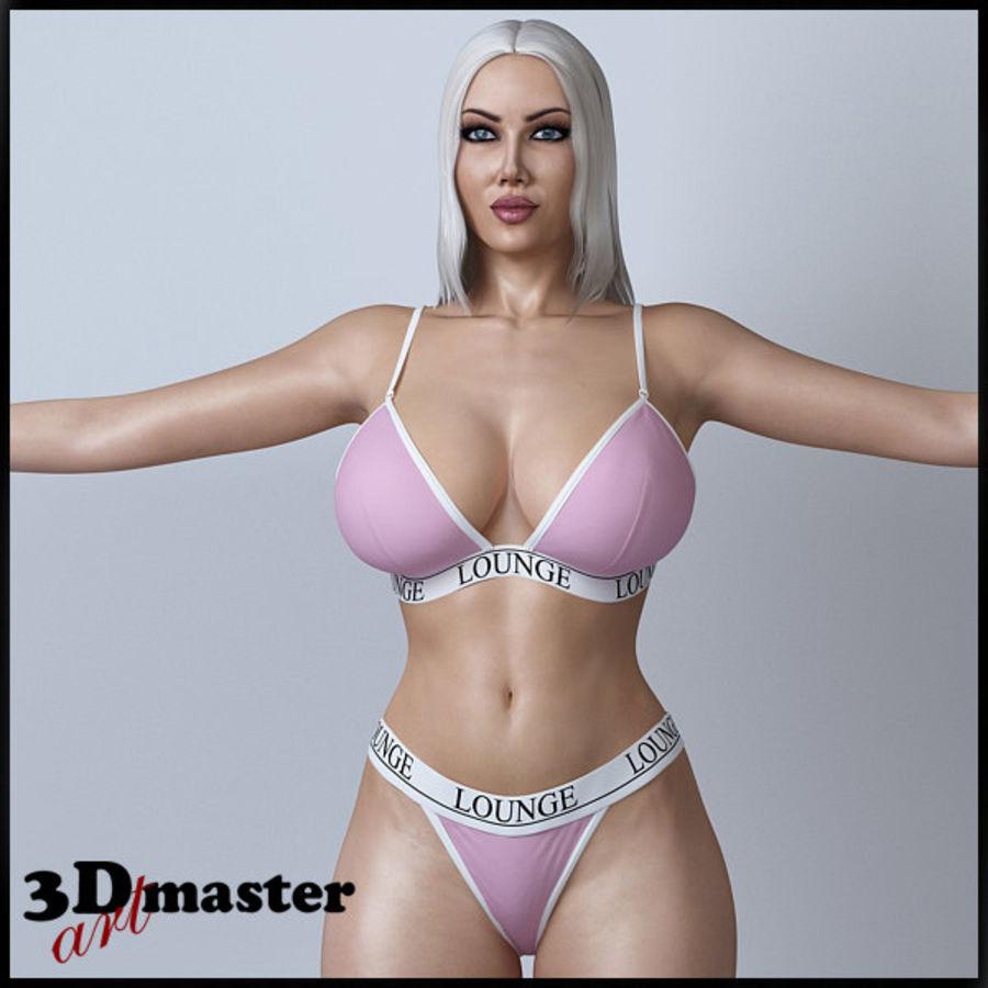 Красота женщины 11 royalty-free 3d model - Preview no. 1