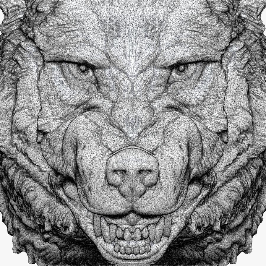 Kurt kafası royalty-free 3d model - Preview no. 10