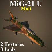 MIG21U MAL 3d model