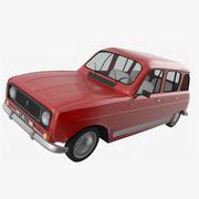 르노 4 3d model