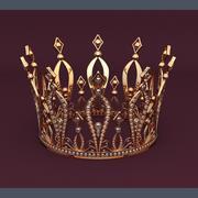 Gyllene krona 3d model