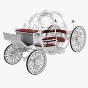 Carrozza matrimonio V001 3d model