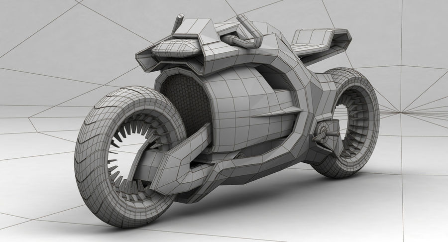 Concept Bike-1 royalty-free 3d model - Preview no. 5