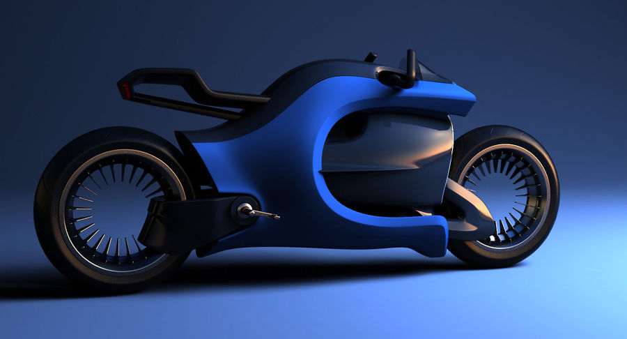 Concept Bike-1 royalty-free 3d model - Preview no. 10