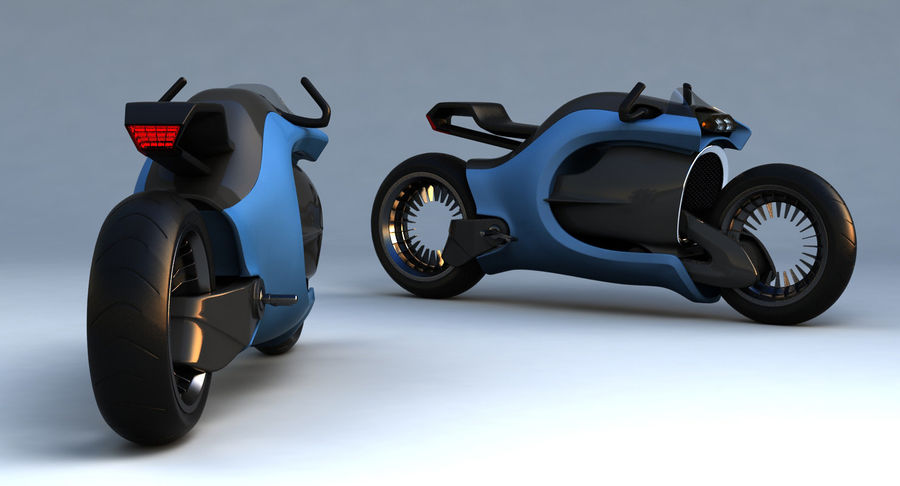 Concept Bike-1 royalty-free 3d model - Preview no. 7