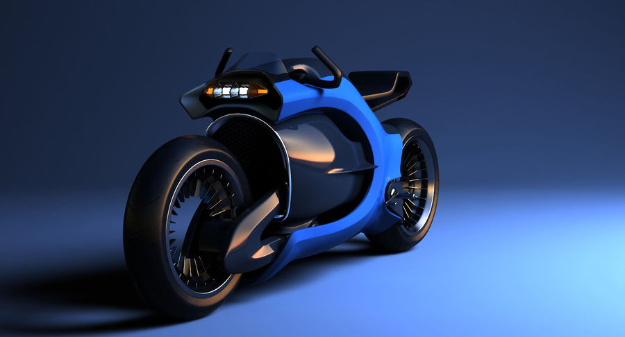 Concept Bike-1 royalty-free 3d model - Preview no. 9