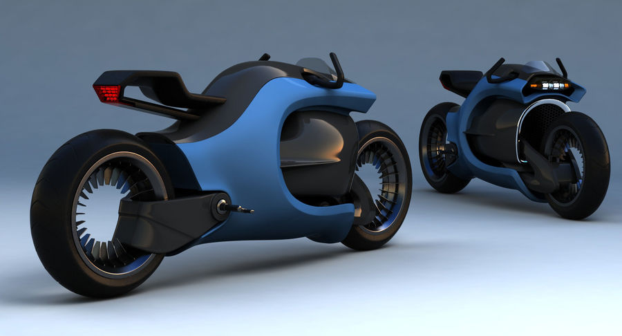 Concept Bike-1 royalty-free 3d model - Preview no. 8