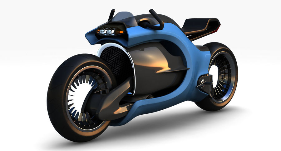 Concept Bike-1 royalty-free 3d model - Preview no. 1