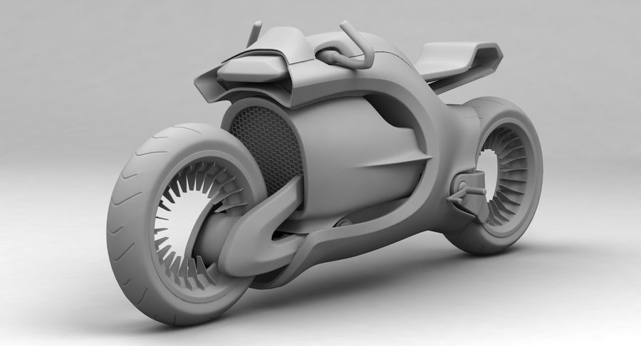 Concept Bike-1 royalty-free 3d model - Preview no. 3
