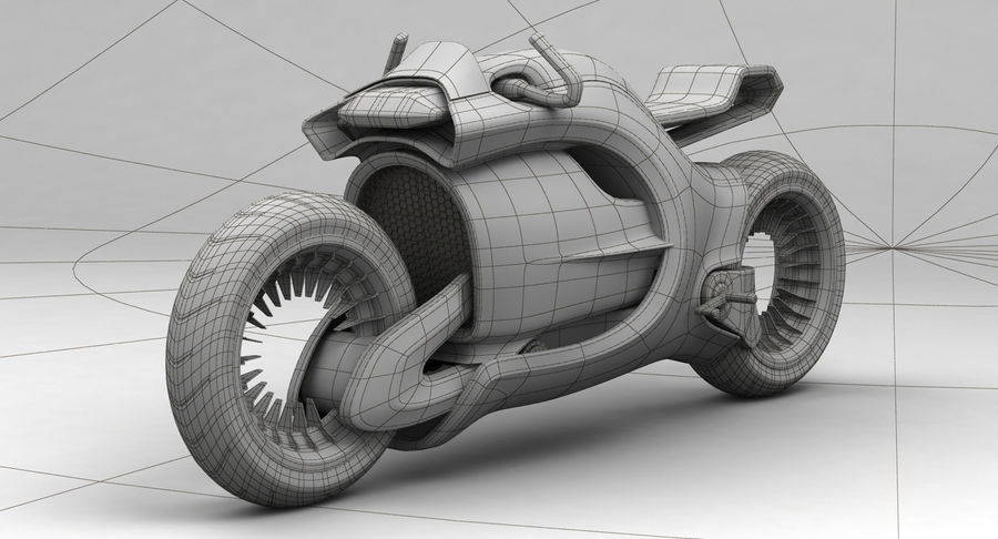 Concept Bike-1 royalty-free 3d model - Preview no. 4