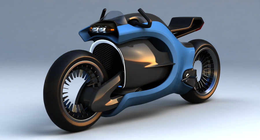 Concept Bike-1 royalty-free 3d model - Preview no. 2