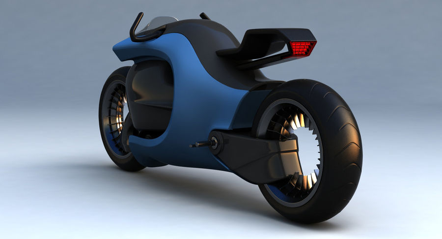 Concept Bike-1 royalty-free 3d model - Preview no. 6