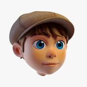 Cabeça de menino dos desenhos animados 3d model