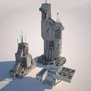 edificios futuristas XXI (2) modelo 3d