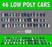 46 AUTOS NIEDRIG POLY 3d model