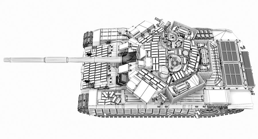 Tank T90 royalty-free 3d model - Preview no. 32