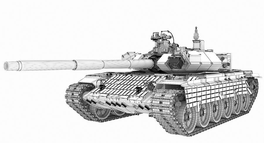 Tank T90 royalty-free 3d model - Preview no. 27