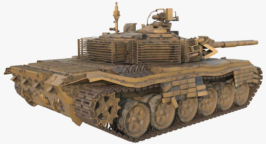 Tank T90 royalty-free 3d model - Preview no. 5