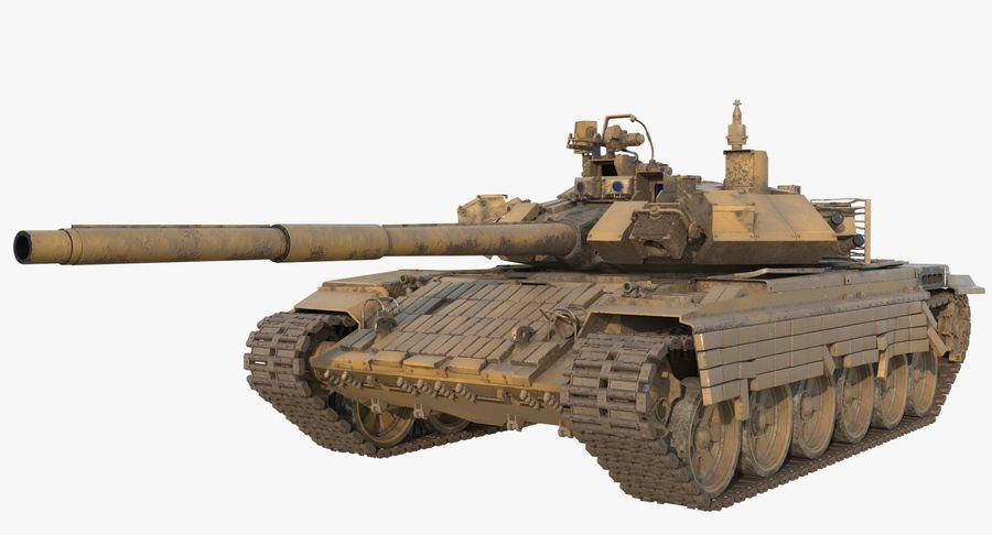 Tank T90 royalty-free 3d model - Preview no. 3