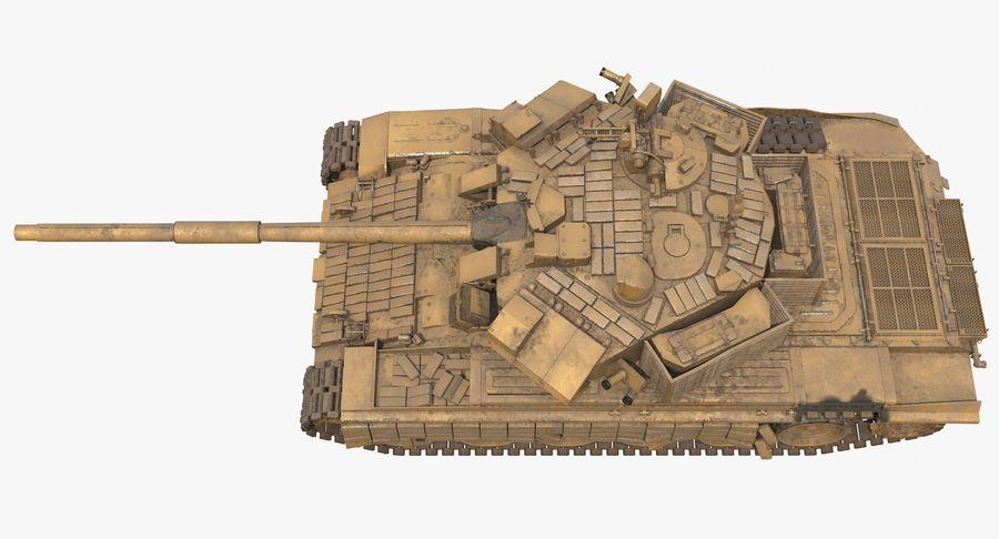 Tank T90 royalty-free 3d model - Preview no. 8