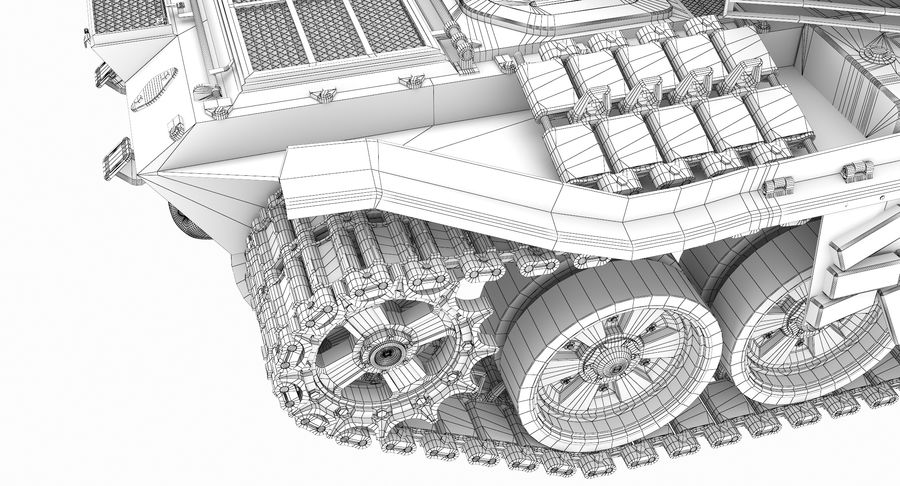 Tank T90 royalty-free 3d model - Preview no. 37