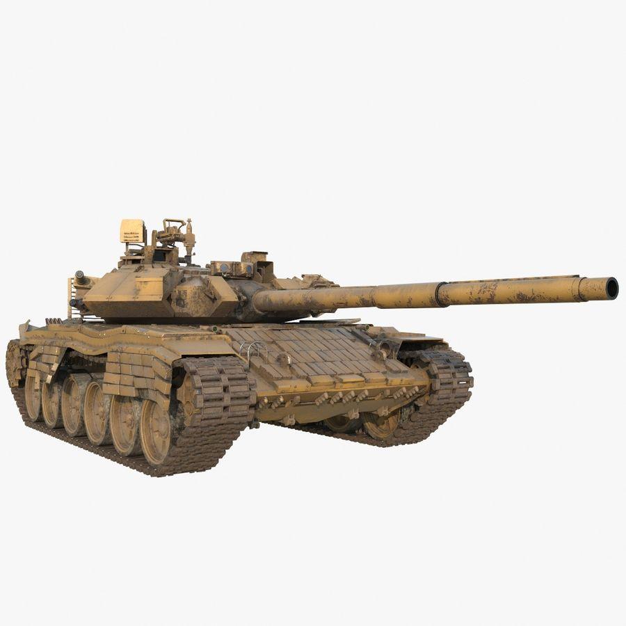 Tank T90 royalty-free 3d model - Preview no. 1