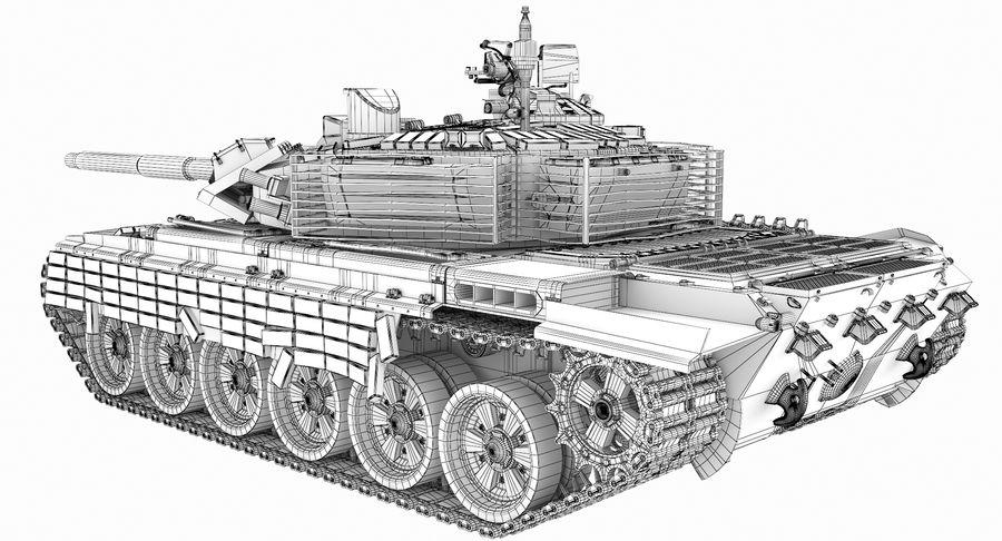 Tank T90 royalty-free 3d model - Preview no. 28