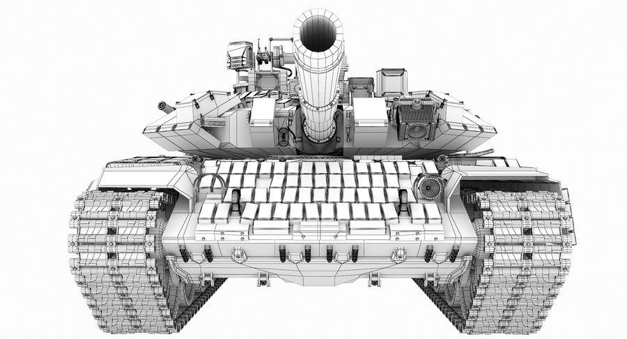Tank T90 royalty-free 3d model - Preview no. 30