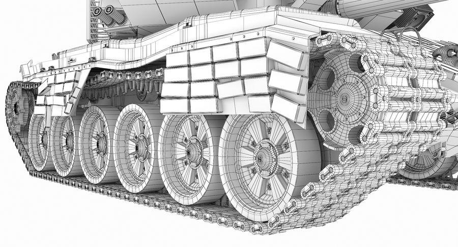 Tank T90 royalty-free 3d model - Preview no. 35