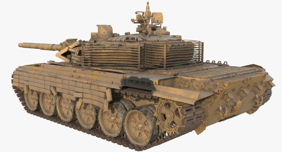Tank T90 royalty-free 3d model - Preview no. 4