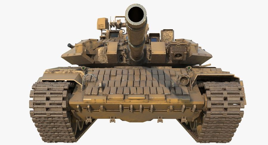 Tank T90 royalty-free 3d model - Preview no. 6