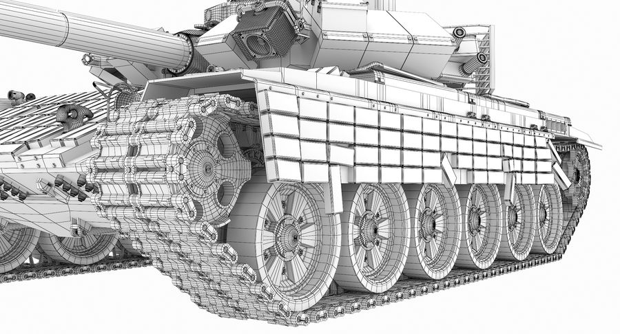 Tank T90 royalty-free 3d model - Preview no. 34