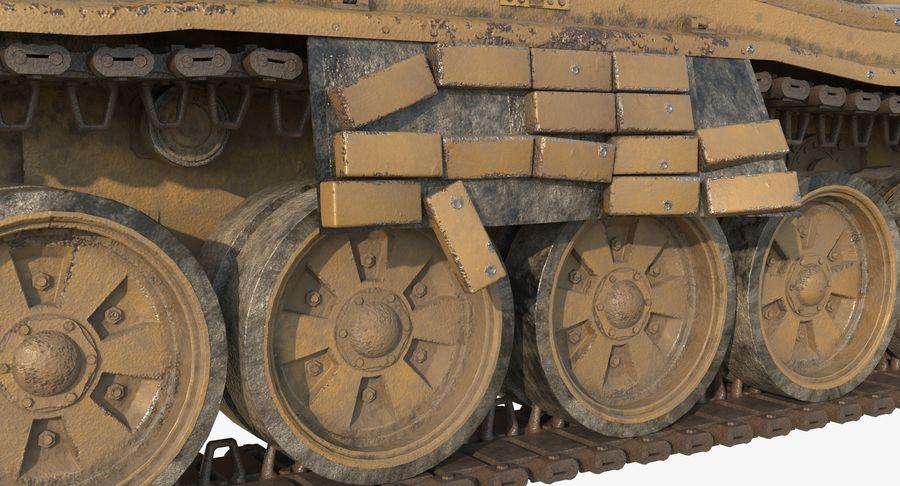 Tank T90 royalty-free 3d model - Preview no. 12