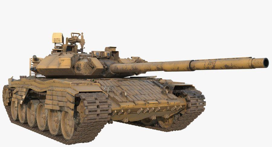 Tank T90 royalty-free 3d model - Preview no. 2