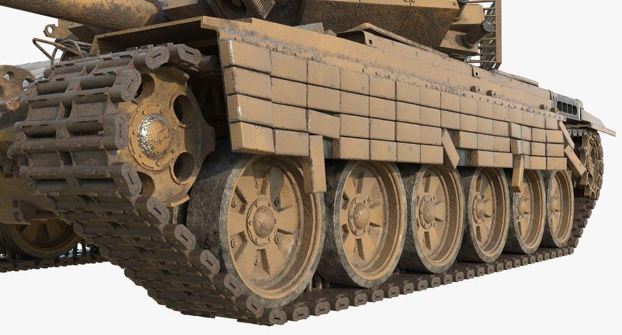 Tank T90 royalty-free 3d model - Preview no. 10