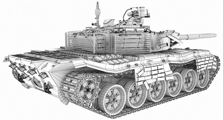 Tank T90 royalty-free 3d model - Preview no. 29