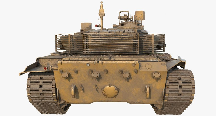 Tank T90 royalty-free 3d model - Preview no. 7