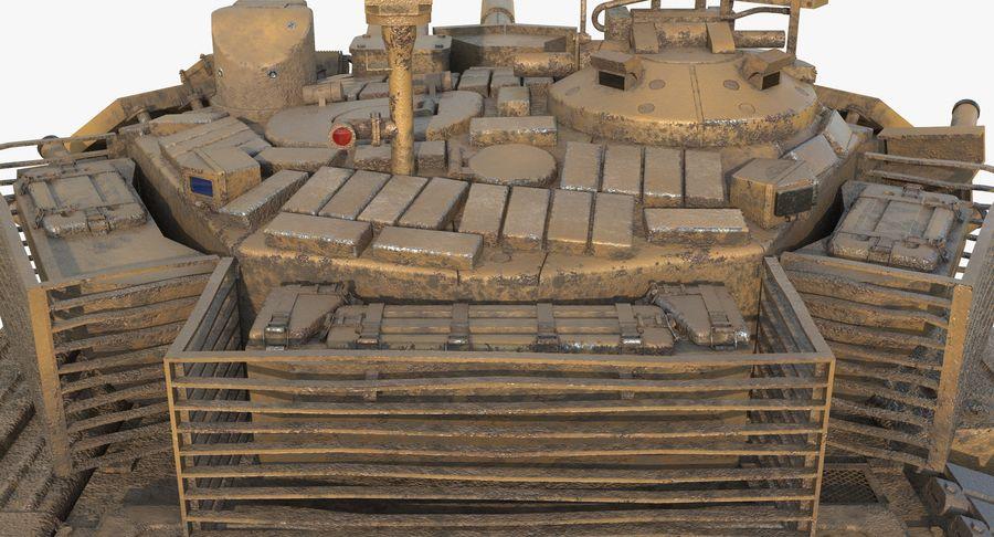 Tank T90 royalty-free 3d model - Preview no. 17