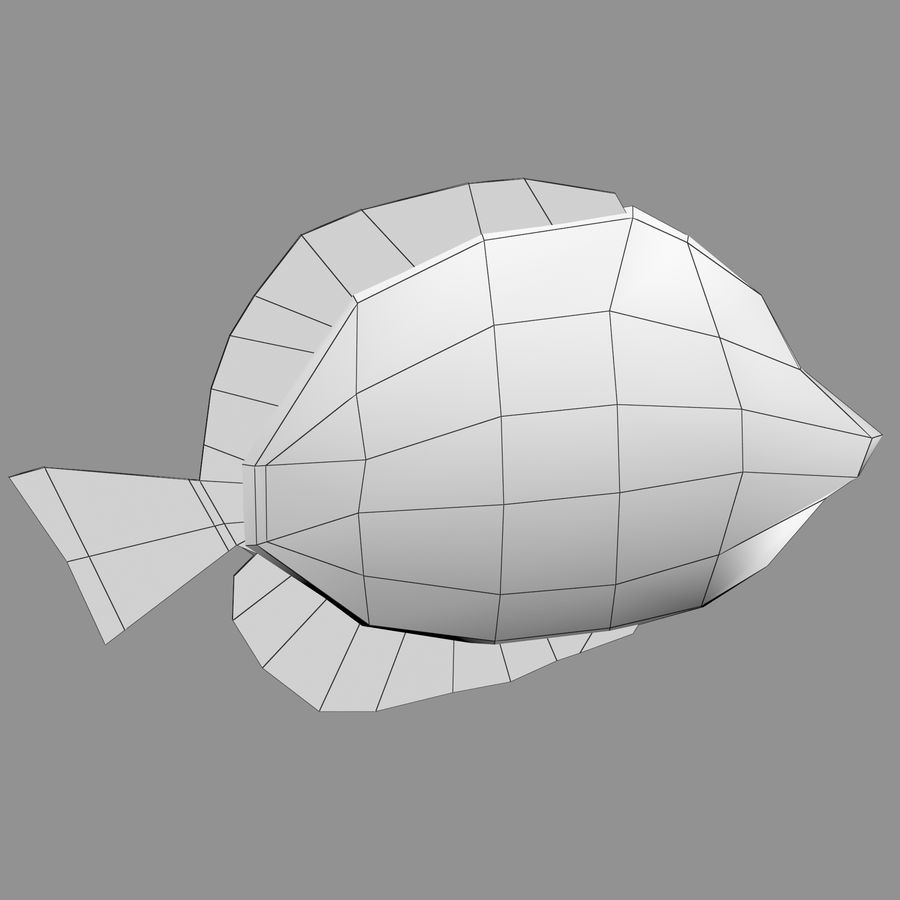 Aquarium Fish Collection Low Poly royalty-free 3d model - Preview no. 47